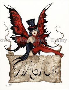 """""""Magic"""" ORIGINAL ART - Watercolor Paintings I - P - Amy Brown Fairy Art - The Official Gallery"""