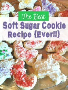 Old Fashioned Cookies Recipe - The best Christmas cookie ever! Just be sure to add cream cheese frosting!