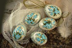 Easter egg Ceramic egg Shabby chic Vintage Hand painted by LAIVA, $20.00