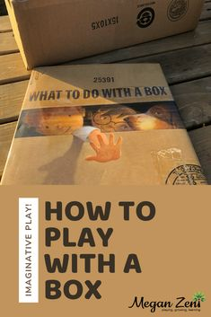 Independent and imaginative play with a box #notabox #box #imagination #whattodowithabox #boxstory #boxitect