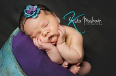 Blue and Purple Flower & Feather Headband by DarlingDelilah777