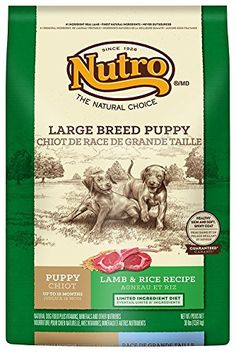 NUTRO Large Breed Puppy Lamb and Whole Brown Rice Dry Dog Food, Dog Food, 30 lbs. ** For more information, visit image link.
