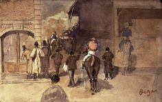 Sortie de pesage (E. Degas, 1866)