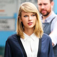 Salon Inspiration: Taylor Swift - Sweeping Fringe from #InStyle