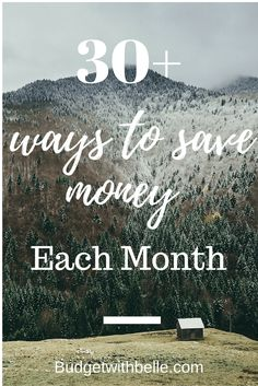 Here's are 30 + ways  to save money this month. I highly recommend these budgeting tips I think everyone can put into practice. Following these simple easy tips can help make your money go further along the month.