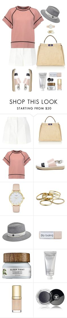 """Plain Doll"" by mttakes ❤ liked on Polyvore featuring Dolce&Gabbana, Fendi, Brunello Cucinelli, Kate Spade, Kendra Scott, Maison Michel, African Botanics and Chanel"