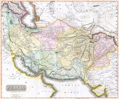 """Persia in 1814 (at the beginning of the """"Great Game,"""" in which Britain and Russia competed for control over the region)"""