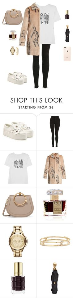 """""""Untitled #340"""" by kelly2210 ❤ liked on Polyvore featuring Marc Jacobs, Topshop, AlexaChung, Shrimps, Chloé, Roja Parfums, David Yurman, L'Oréal Paris and Alexander McQueen"""