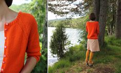 Mardi Cardi - I wouldn't want neon orange, but the pattern is a beautiful shape.