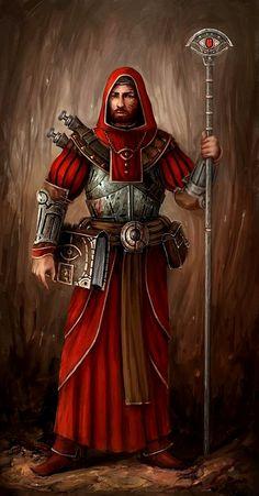 Magos de batalha do Reino de Lurian ( placa de ferro leve, sobretudo de couro, cajado/varinha, com ou sem tomos de anotações para poções e magias em desenvolvimento )