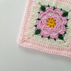 We're currently experiencing a heatwave here and I am definitely NOT enjoying it  I hope your day was a bit better! I completed this square a while ago with some odds and ends, it's for my summer blanket which now seems like a ridiculous idea
