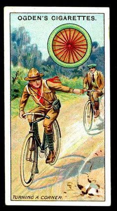 Cigarette Card - Scout Cyclist by cigcardpix, via Flickr