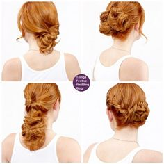 4 super easy updos for medium length hair.