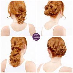 4 super easy updos for medium length hair.