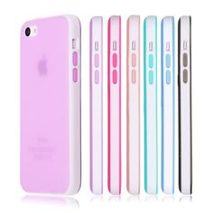 Soft Silicone Translucent Rubber Bumper Matte Gel Case Cover for iPhone 5C #Unbranded