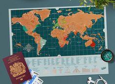 Harta razuibila Scratch Map™ – Backpacker Edition este o idee potrivita de cadou pentru el, pentru acel prieten caruia ii place sa colinde lumea in lung si in lat. Aceasta ii ofera sansa de a-si inregistra traseul parcurs si de a-si nota cele mai importante detalii. Backpacking, Diagram, Map, World, Note, Backpacker, Location Map, Maps, The World