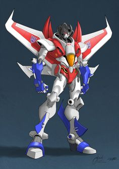 This is probably my favorite Seeker design ever. Of all time. Credit for this awesome Transformers art goes to Guidi with coloring by VaderPrime1. ~ Starscream version ~