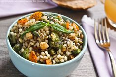 Barley, vegetables and chickpeas