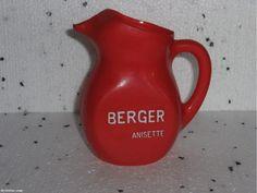 Berger anisette - pichet en plastique rouge -