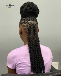 How To Grow Natural Hair, Natural Hair Updo, Natural Hair Styles, Long Hair Styles, Natural Dreads, Pretty Dreads, Beautiful Dreadlocks, Dreads Styles For Women, Men Loc Styles