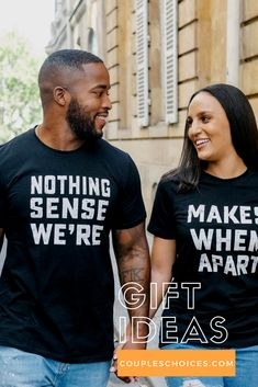When a guy and a girl are wearing t-shirts with a unique print, then its not just beautiful and original. ... It is immediately evident that before us - a couple in love, which has a serious relationship. Couplechoieces.com offers you a great choice of unique t-shirts. Find out more with us! #coupleschoices #matchingoutfit #giftideas