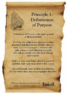 Think And Grow Rich  Principle 1 - Definiteness of Purpose