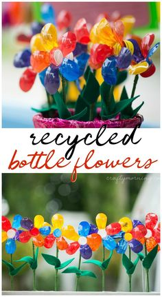 Recycled bottle flower craft for kids to make! Fun summer or spring art project … Recycled bottle flower craft for kids to make! Fun summer or spring art project to do. Spring Art Projects, Spring Crafts For Kids, Crafts For Kids To Make, Craft Activities For Kids, Fun Crafts, Art For Kids, Kids Diy, Preschool Crafts, Recycling Projects For Kids