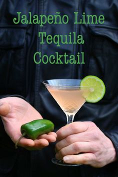 Jalapeño Lime Simple Syrup makes a simply spicy and delicious tequila cocktail | Recipe Fiction