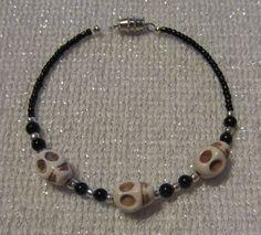 White Skull Bracelet by SummerCAmber on Etsy, $11.50