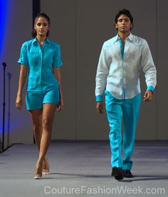 Arcadio Diaz 꾸뛰르 패션위크 뉴욕 봄컬렉션 2013 #패션위크#패션#꾸뛰르#Arcadio Diaz#스타일#여자#남자#모던디자이너#모델#블루셔츠#패션쇼#뉴욕