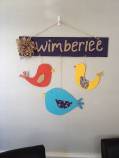 Adorable wood mobile made by @Jessica Gremmer