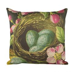 Love the colors in this for a guest room and/or office. Pink,Chocolate and Seafoam!  Yeah... I pinned this Nest Pillow from the Natural Instinct event at Joss and Main!