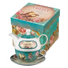 Amazon.com | Trust in the Lord Collection Tea-for-One Set - Proverbs 3:5: Tea-For-One Sets
