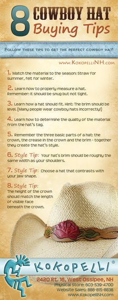Learn how to find the perfect cowboy hat!