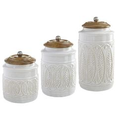 Ivory Farmhouse Canisters