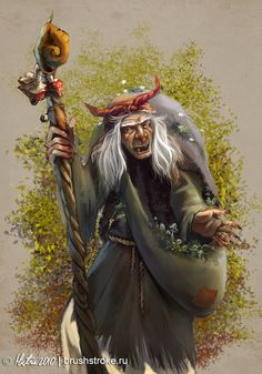 Baba Yaga (Witch) - Eastern Europe - Friendly and Dangerous Baba Yaga, Deviant Art, Witch Art, Magical Creatures, Folklore, Illustrations, Fantasy Art, Faeries, Fairy Tales