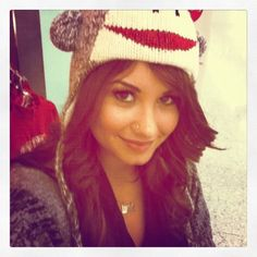 Demi's monkey hat!