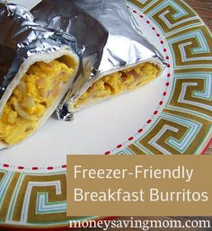 This is a great idea!  Pinner says:  If you love McDonald's Breakfast Burritos, you've GOT to try these Homemade Freezer-Friendly Breakfast Burritos! They are SO good -- and much cheaper and healthier, too!