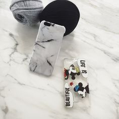 #mickey #minnie VS #marble. Decisions, decisions. Which one will you pick? Tap on the link in our bio to shop our #marble collection. # phonecase #diy