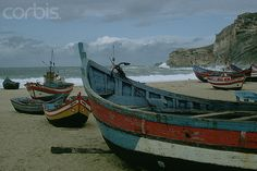 Colorful Fishing Boats on the Beach