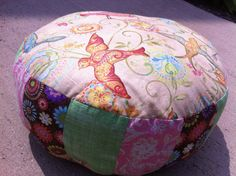 All a Flutter Meditation Cushion Floor Pillow Zafu with birds