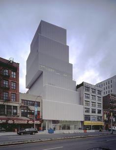 New Museum, NY, NY designed by Kazuyo Sejima and Ryue Nishizawa, 2010 Laureates of the Pritzker Architecture Prize. #Architecture #New_Museum #Kazuyo_Sejima #Ryue_Nishizawa