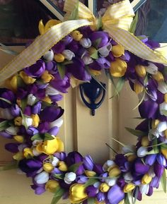 SPRING has sprung Gorgeous large wreath purple