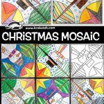 children activities, more than 2000 coloring pages Christmas Mosaics, Diy Paper Christmas Tree, Christmas Gnome, Christmas Snowflakes, Christmas Colors, Christmas Crafts, Xmas, Origami Stars, Origami Easy