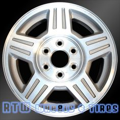 """Chevy Silverado wheels for sale 2007-2008. 17"""" Machined Silver rims 5294 - http://www.rtwwheels.com/store/?post_type=product&p=33038"""