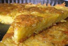 Запеканка из тертого картофеля с сыром и чесноком 1