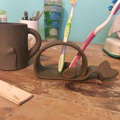 Handmade toothbrush holder I made (work in progress)