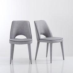 Ergonomische stoel in stof (set van 2), Joan la redoute €329