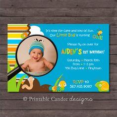 Bug Birthday Invitation  DIY Custom Printable by printablecandee, $10.00