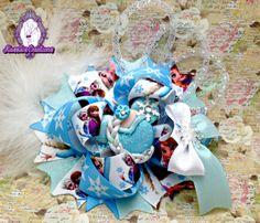 #Frozen bow #boutique #hairbows #bows #childrenaccessories #kassiascreations #bowtique #handmadecrafts #crafts